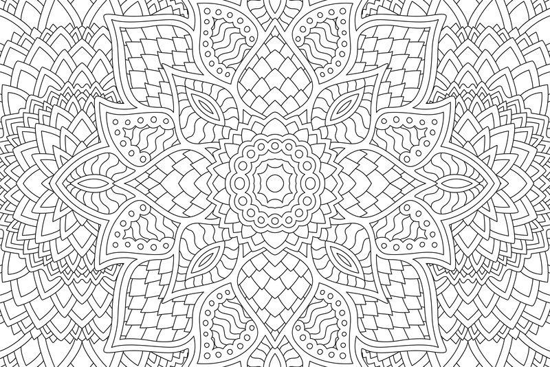 彩色书页矢量的抽象线性禅宗设计