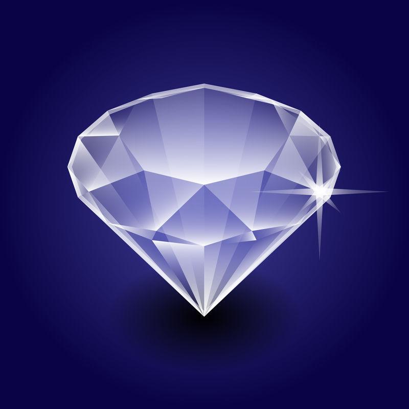深色背景矢量等距钻石宝石