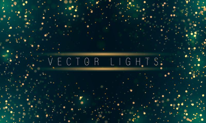 光抽象发光的bokeh灯-节日的紫色和金色发光的背景与五颜六色的灯光bokeh-魔术概念-圣诞节的概念