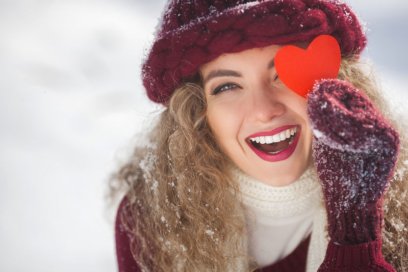 冬季户外美女写真