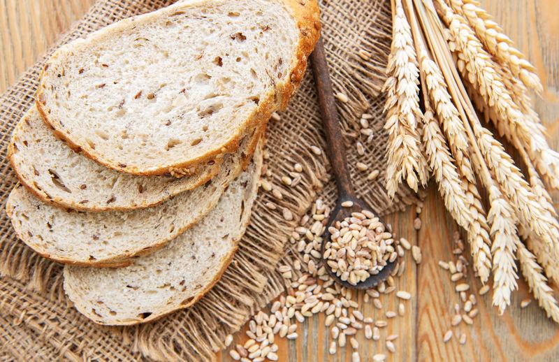 切片面包顶视图