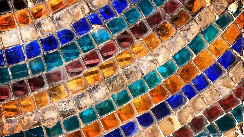 彩色玻璃马赛克抽象墙面背景