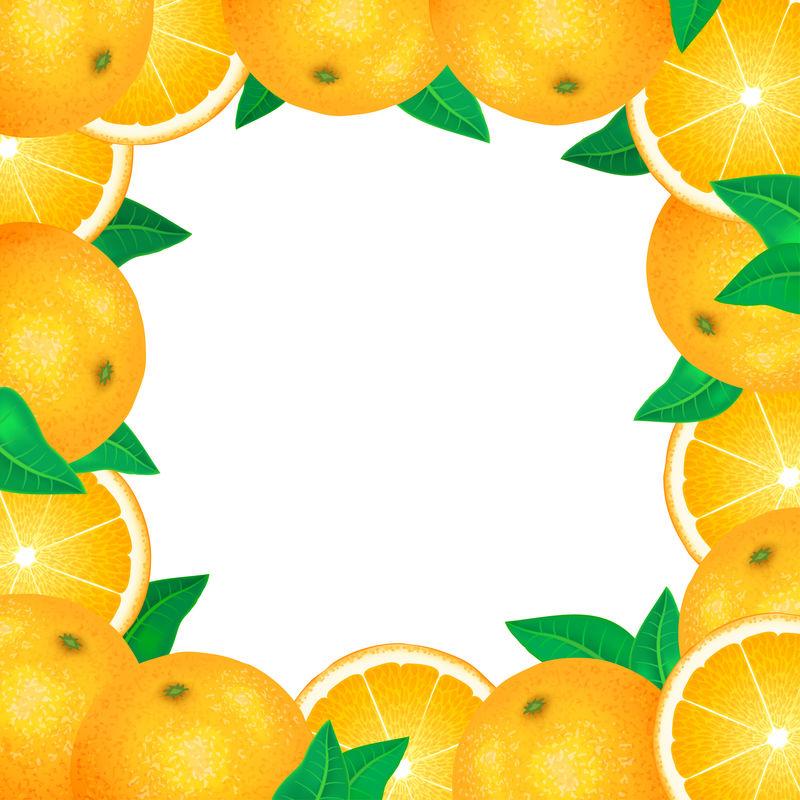 一帧新鲜的桔子。天然生物水果、健康有机食品