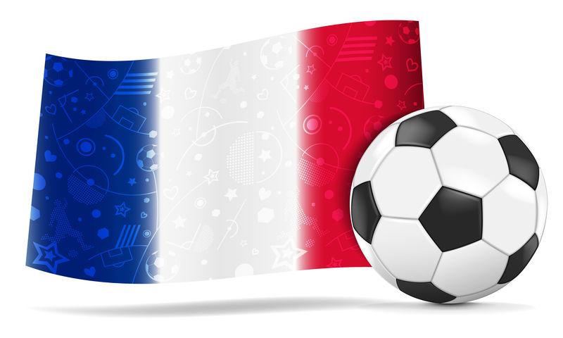 法国国旗的足球-每股收益10-文件包含透明胶片和渐变网格