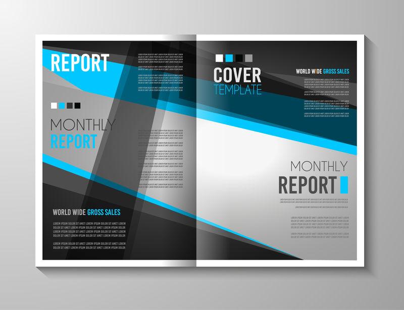 小册子模板、传单设计或商业用的遮盖物