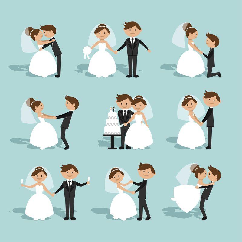 新郎新娘把婚礼安排得浪漫