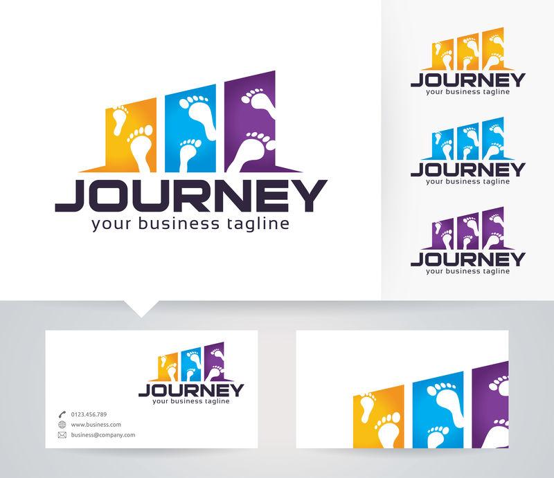 旅行-冒险-旅行-生存-徒步-探索-矢量徽标模板
