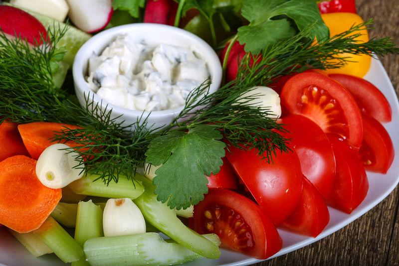新鲜蔬菜片