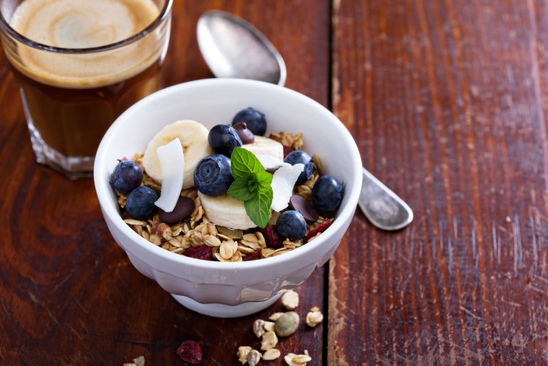 自制麦片早餐碗