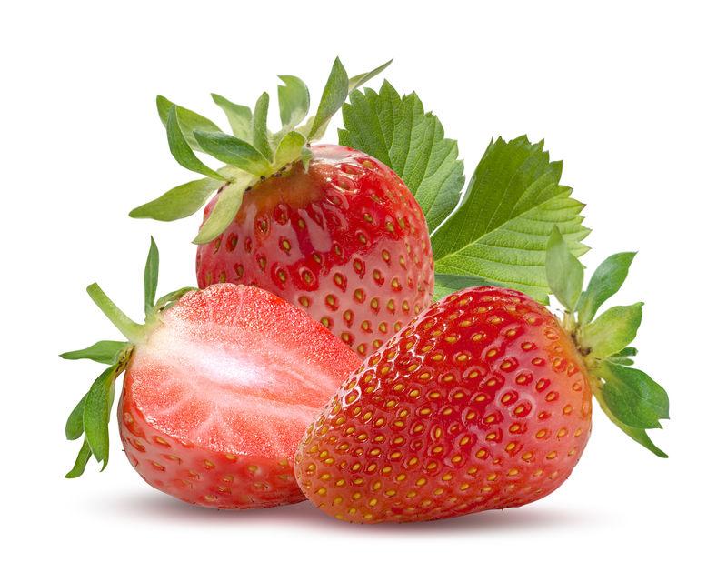 三个白色的草莓