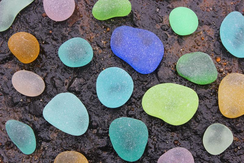 彩色海玻璃卵石