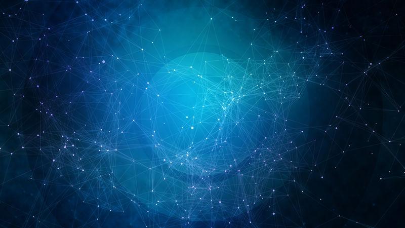 蓝色技术、商业或科学背景