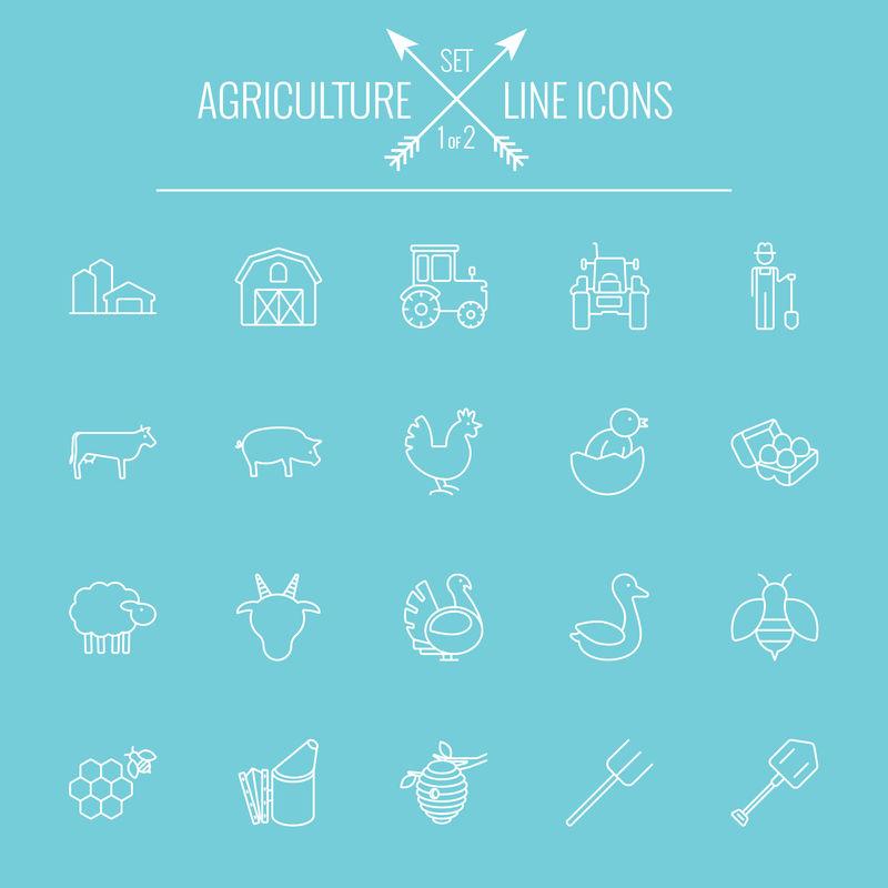 农业图标集。