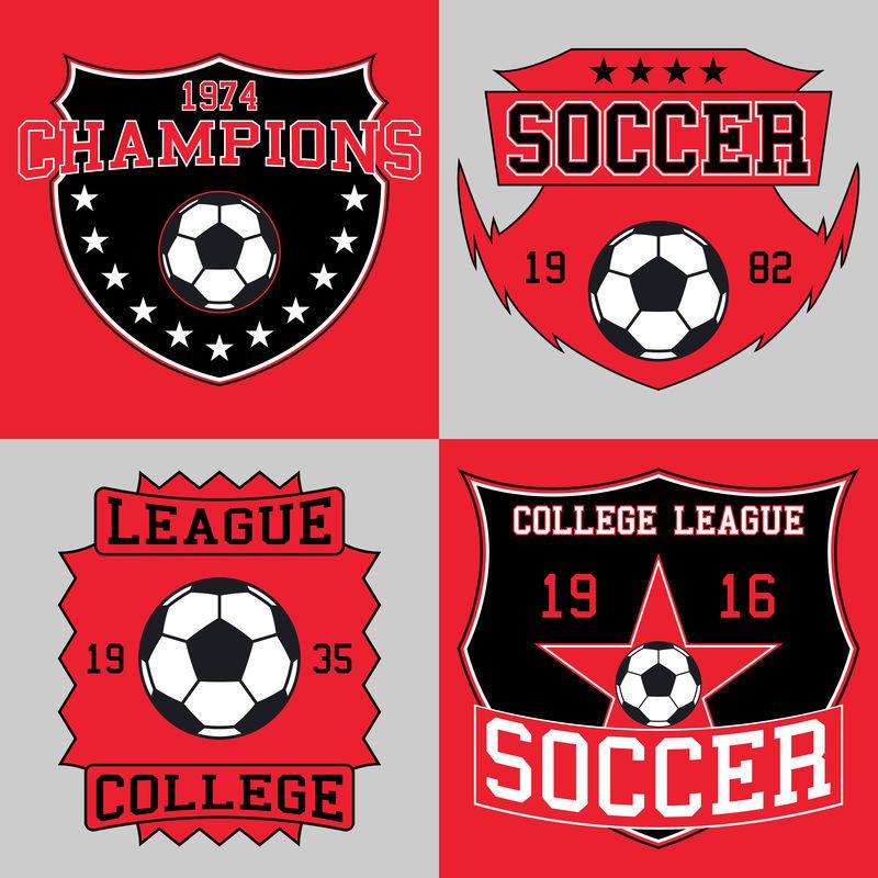 足球标志印刷,t恤图案。矢量图示