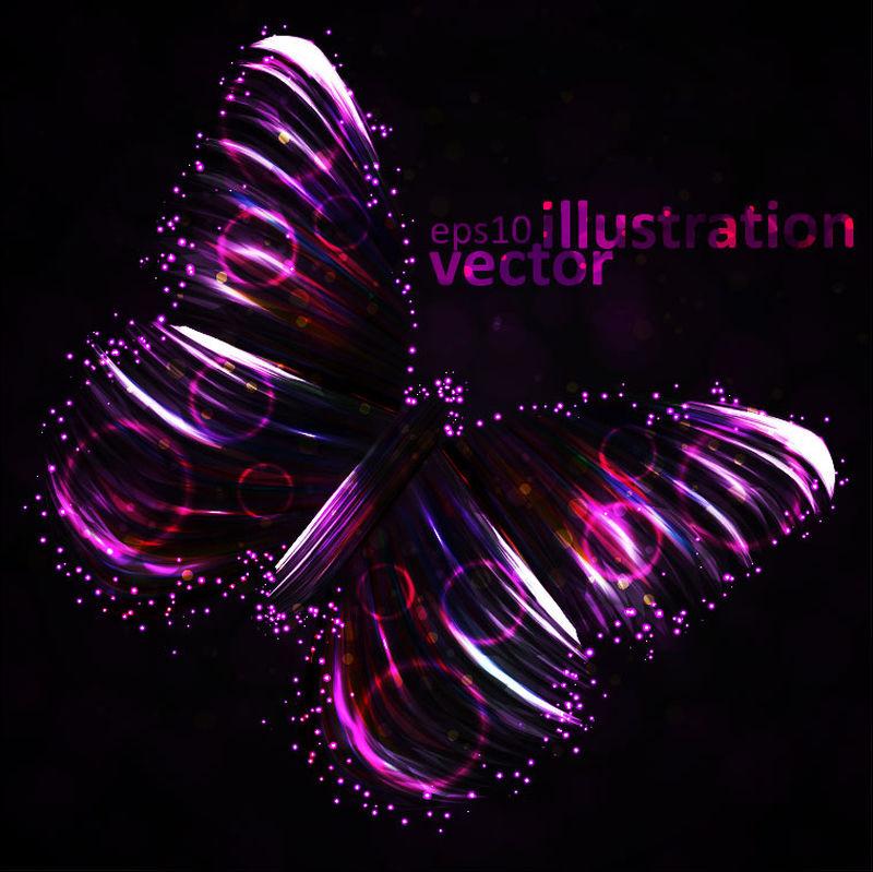 抽象魅力蝴蝶