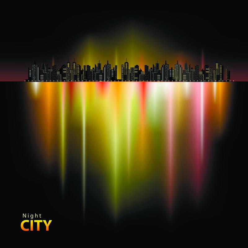 矢量城市夜景