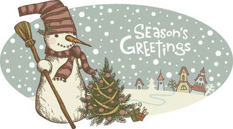 矢量圣诞雪人