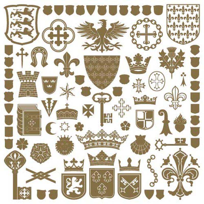 纹章符号和装饰