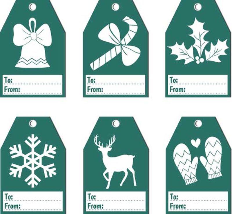 矢量圣诞节标签