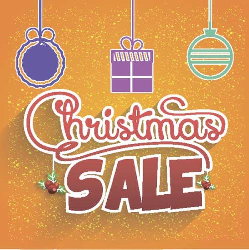 矢量圣诞节销售