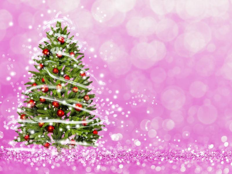 圣诞树从圣诞灯(玩光)。