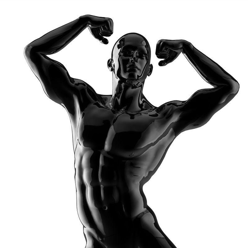 强壮的健美运动员