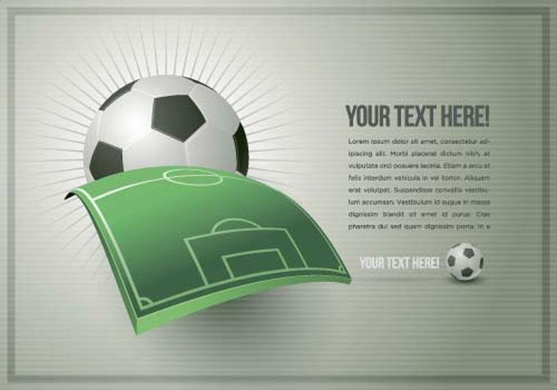 足球设计模板