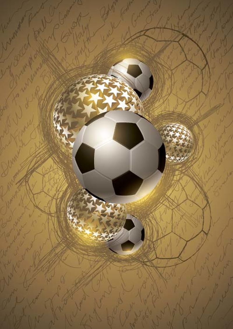 金色足球抽象设计