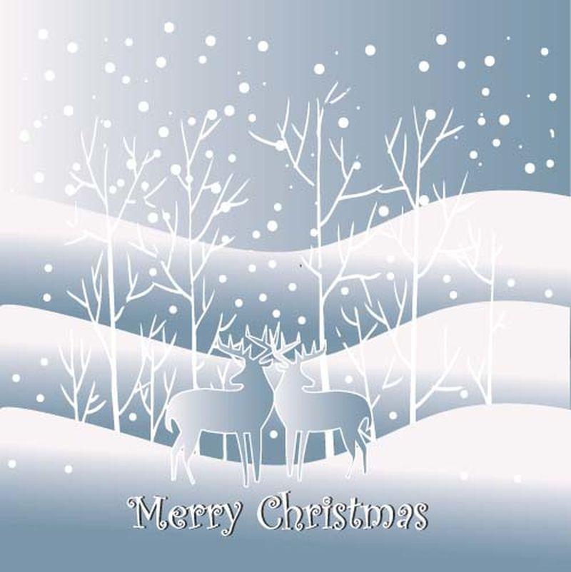 矢量圣诞背景