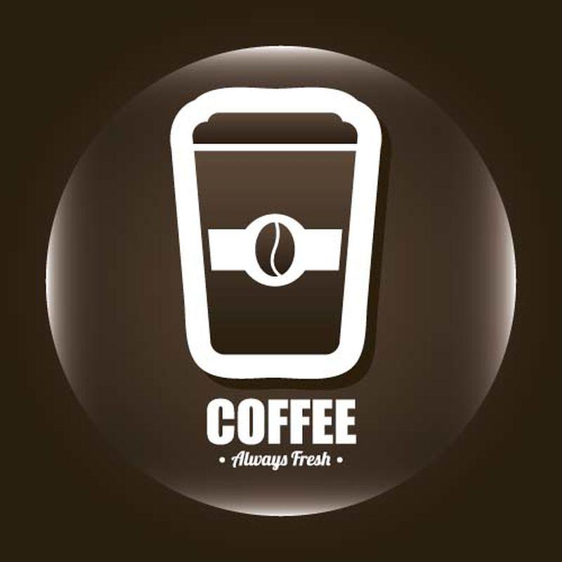 矢量咖啡元素集