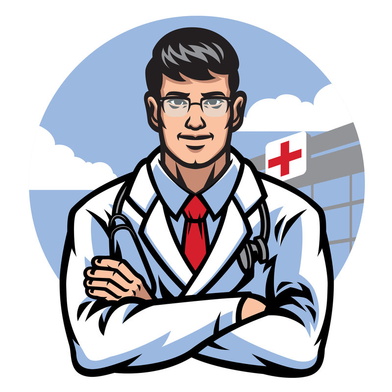 医生在医院前交叉手臂