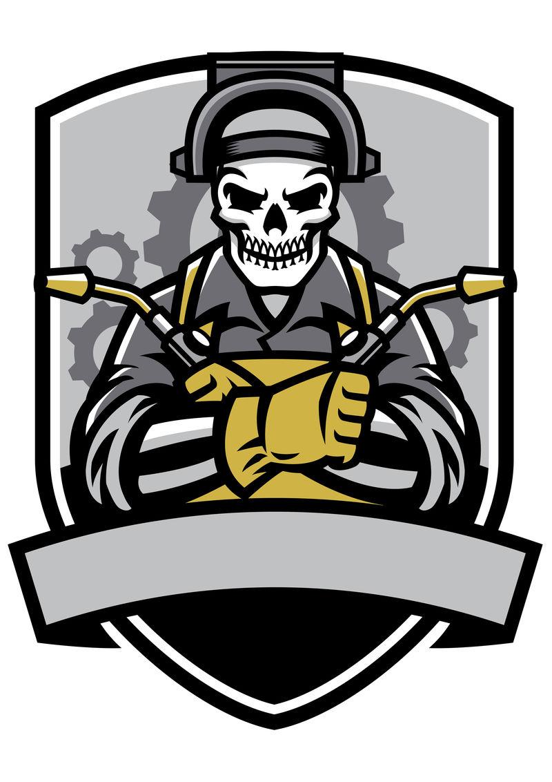 头骨焊工徽章