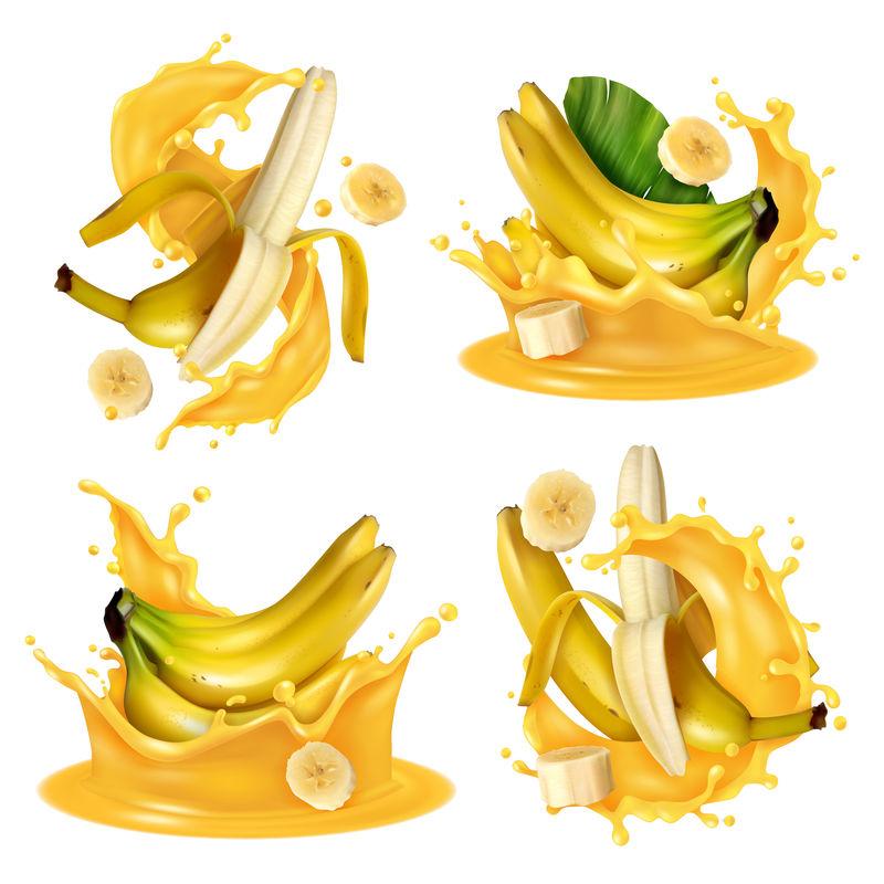逼真香蕉水花套装