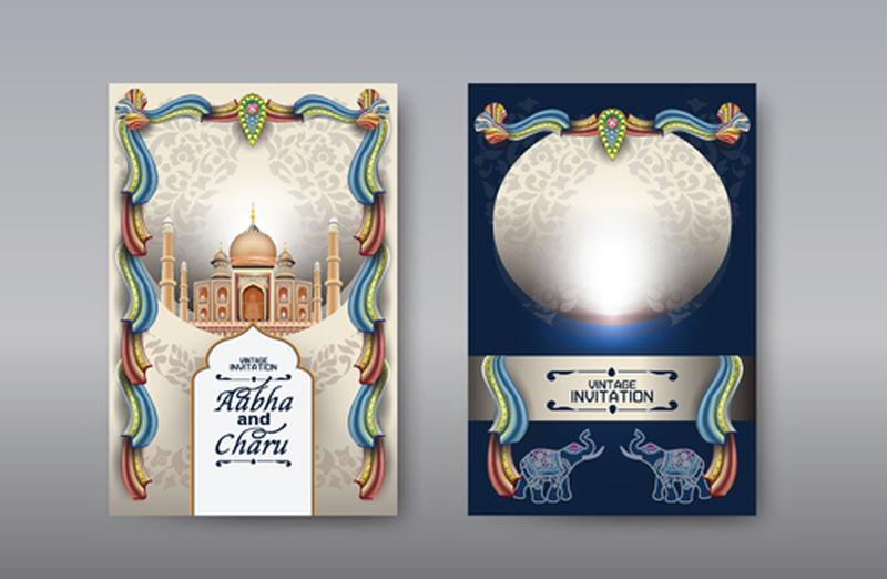 矢量民族花纹卡片
