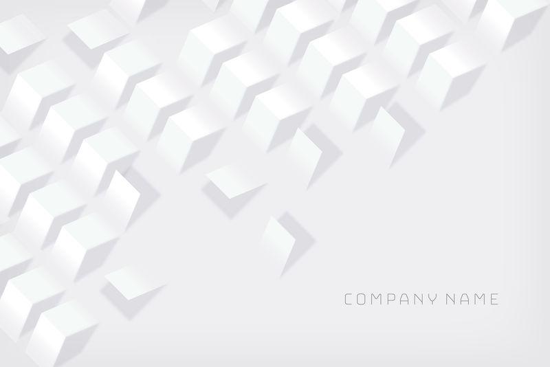 白色3d抽象矢量背景