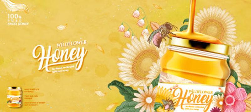 矢量蜂蜜设计