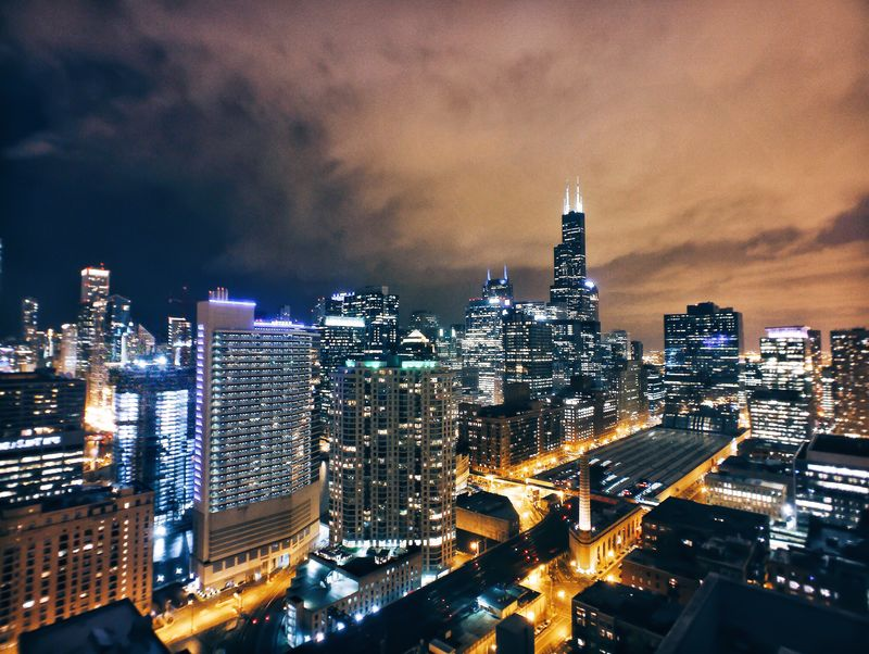 现代城市夜景