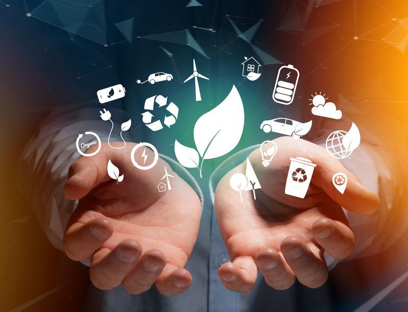 技术生态界面视图,图标显示在技术界面上