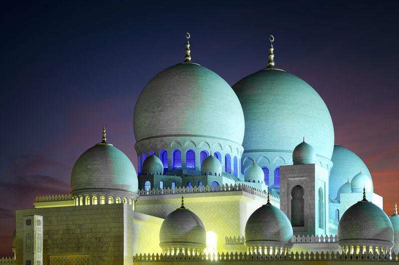 清真寺圆顶详图。清真寺,扎比,联合酋长国