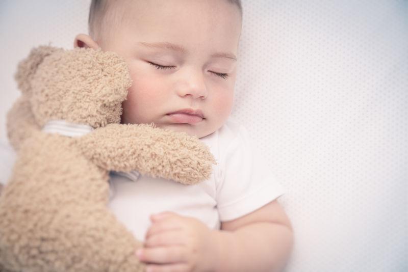 可爱的小宝宝在睡觉