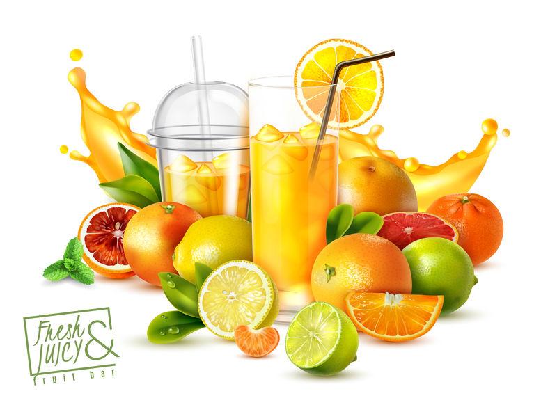 果汁写实海报