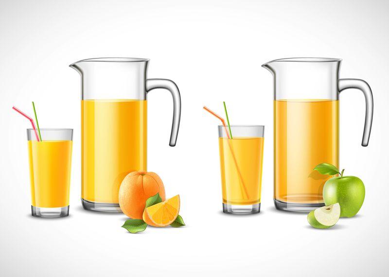 苹果橙汁水壶