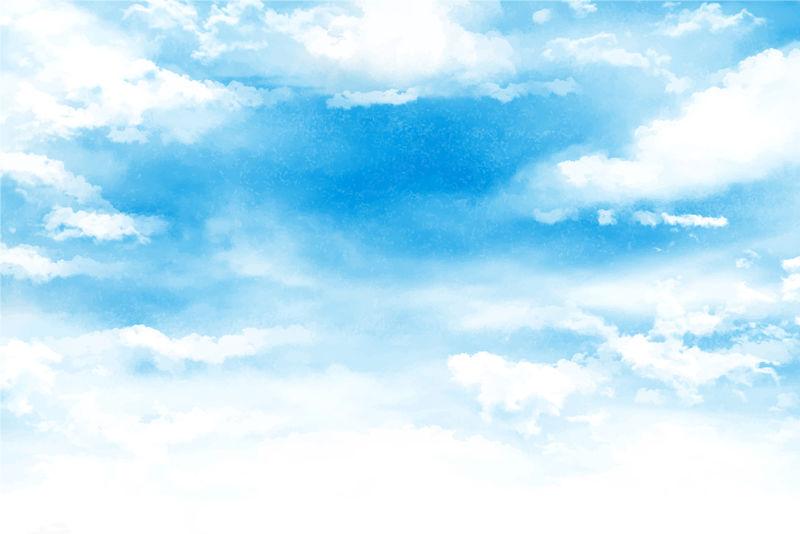 矢量蓝天白云