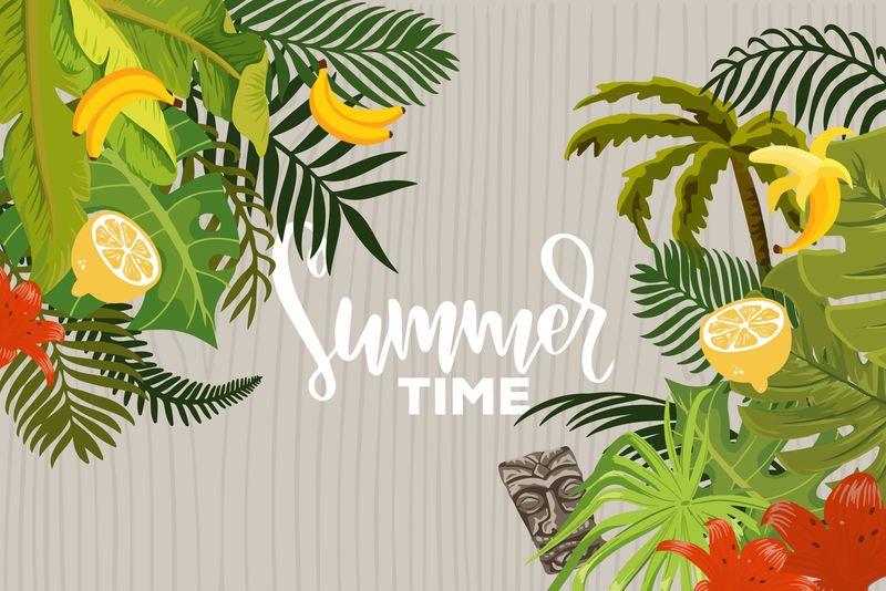 矢量夏季海报背景设计
