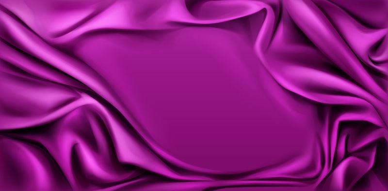 紫红色丝质悬垂织物背景,横幅