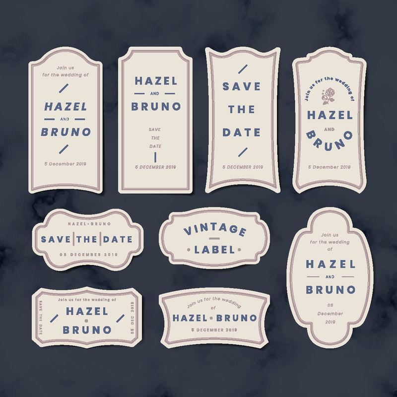 矢量的复古标签
