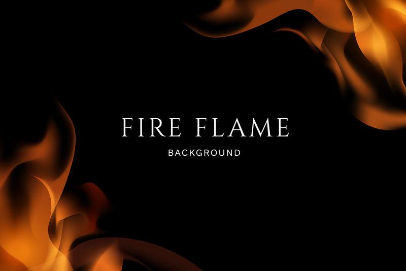 燃烧的火焰矢量背景
