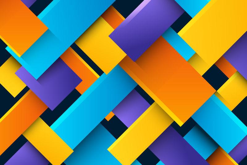 多彩流体3d矢量背景