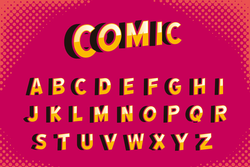 矢量字母数字背景
