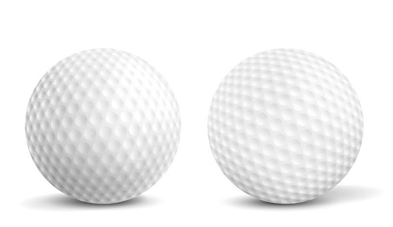 高尔夫球孤立现实矢量插图